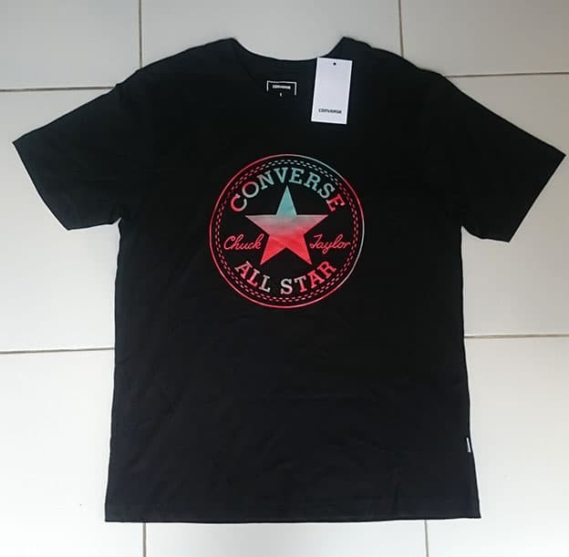 harga Kaos / t-shirt converse chuck taylor logo black original Tokopedia.com