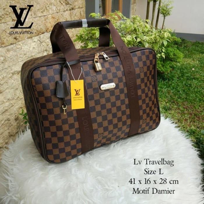 Tas Wanita Branded Travel LV Louis Vuitton Koper Travel Bag LV Import