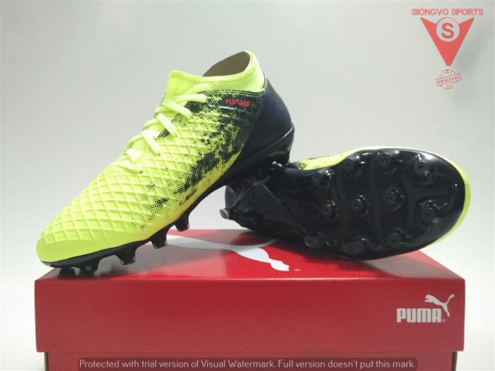 harga Sepatu bola anak - puma future 18.4 hg+mid jr original 10432701 yellow Tokopedia.com