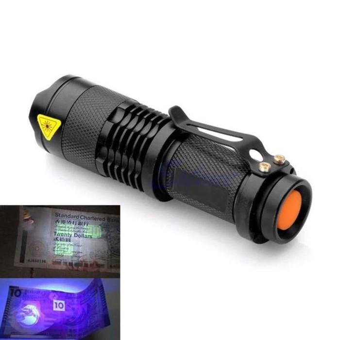 harga Senter led uv 395nm / lampu senter ultraviolet Tokopedia.com