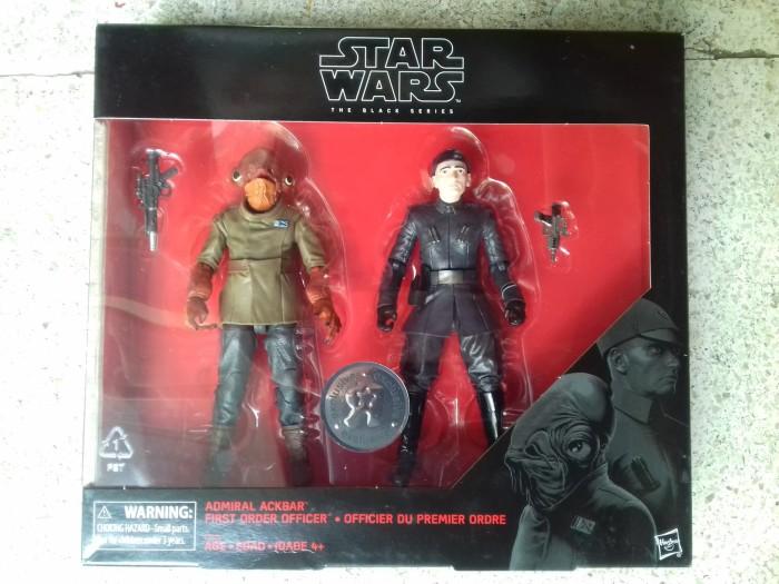 "Star Wars The Black Series 6/"" Admiral Ackbar /& First Order Officer TRU exlcusive"