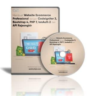 Foto Produk DVD Tutorial Membuat Toko Online Dengan Codeigniter Dan API RajaOngkir dari tutorial pemograman