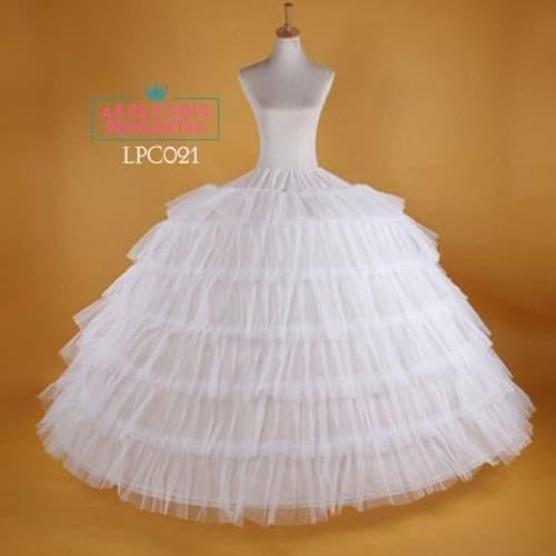 harga Petticoat wedding super ball gown (6ring 6layer tile) l lenka - lpc021 Tokopedia.com