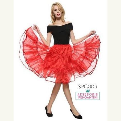 harga Rok tutu pengembang dress merah  l rok petticoat gaun pesta - spc 005 Tokopedia.com