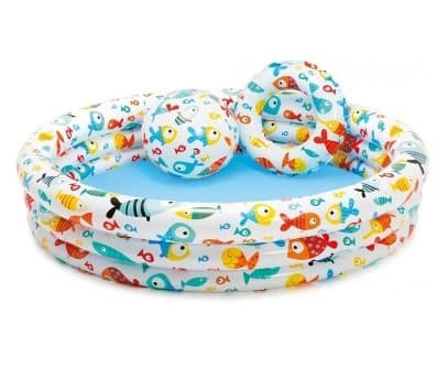 ... harga Kolam renang anak intex bola   ban 59469 inflatable fishbowl pool  set Tokopedia.com 395fdf660e