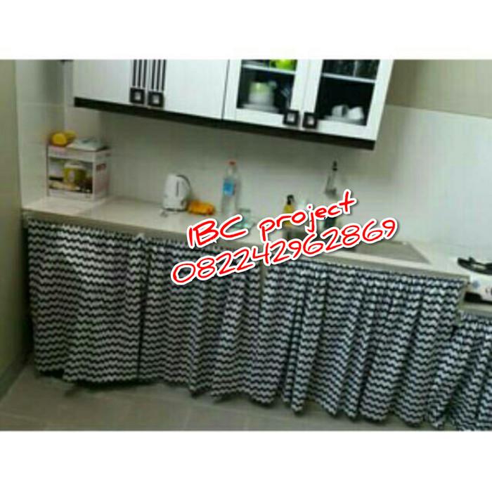 harga Gorden dapur motif wafe hitam putih 1m Tokopedia.com