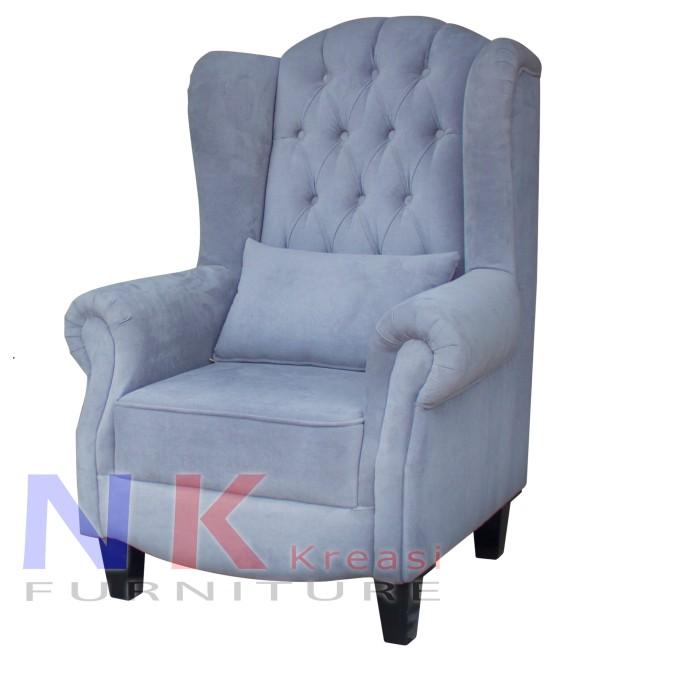 harga Sofa wingchair klasik kursi sofa wing chair single arm minimalis Tokopedia.com