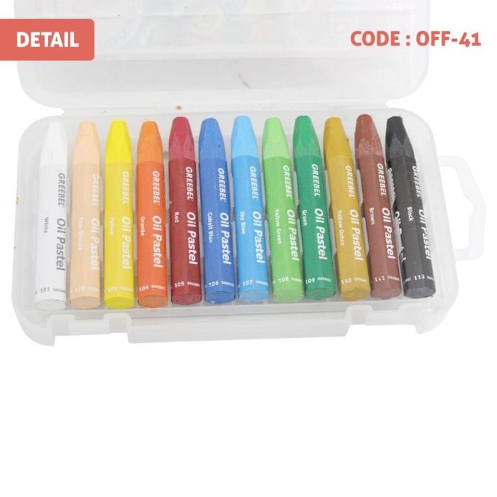 Jual Crayon Greebel 12 Warna Oil Pastels Alat Mewarnai Anak Murah