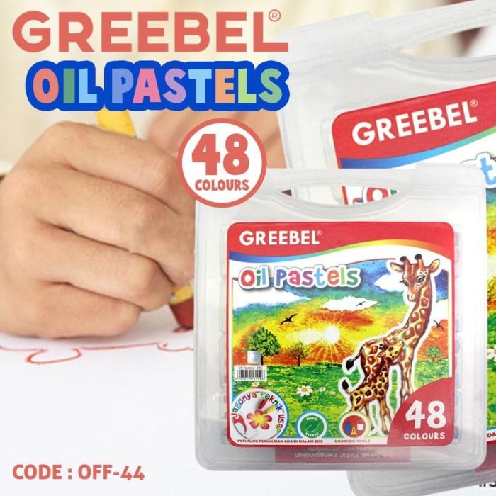 Jual Crayon Greebel 48 Warna Oil Pastels Alat Mewarnai Anak Murah