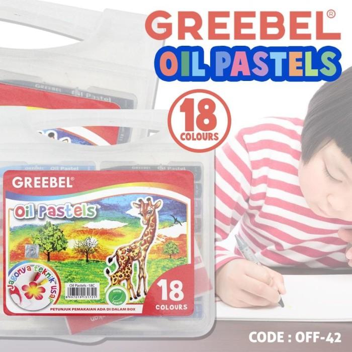 Jual Crayon Greebel 18 Warna Oil Pastels Alat Mewarnai Anak Murah