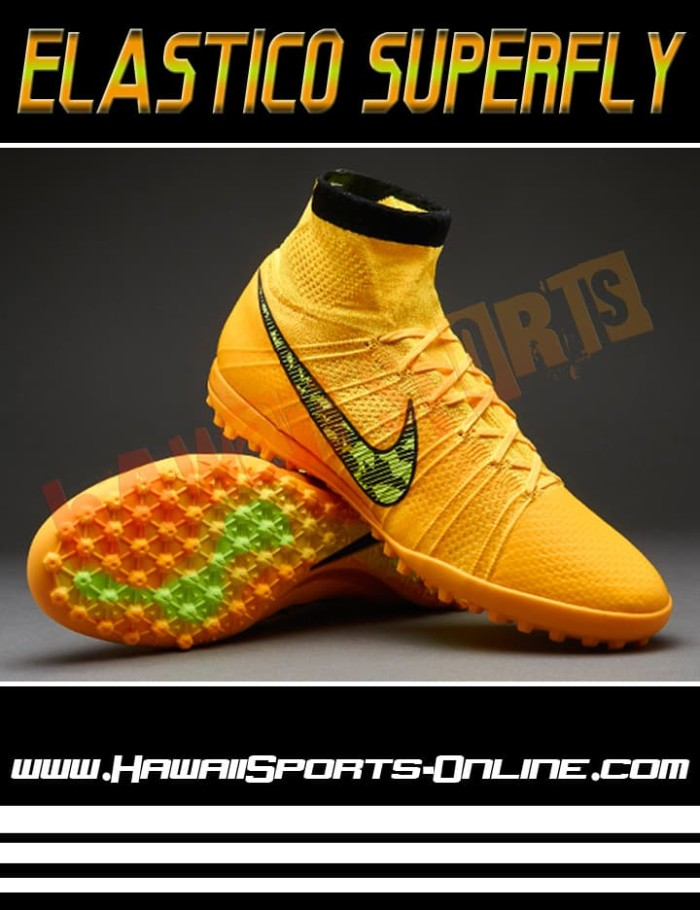 Sepatu Futsal Original Nike Elastico Superfly TF Volt Lime #684636-710 - Orange, 40