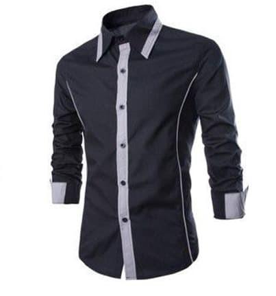 Terlaris [hem alonzo XL] pakaian pria kemeja slim fit ukuran xl
