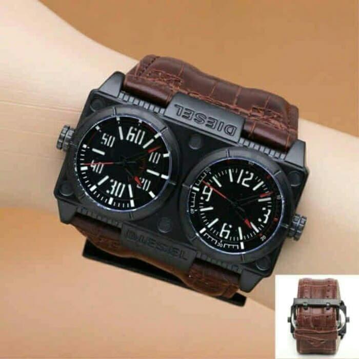 ... Swiss Army Dual Time Jam Tangan Pria SA 09917 tali Source Tali Kulit
