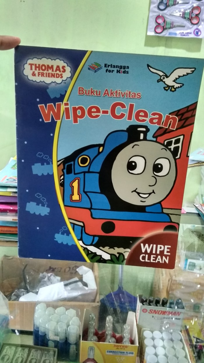 harga Buku aktivitas wipe - clean   thomas & friends Tokopedia.com