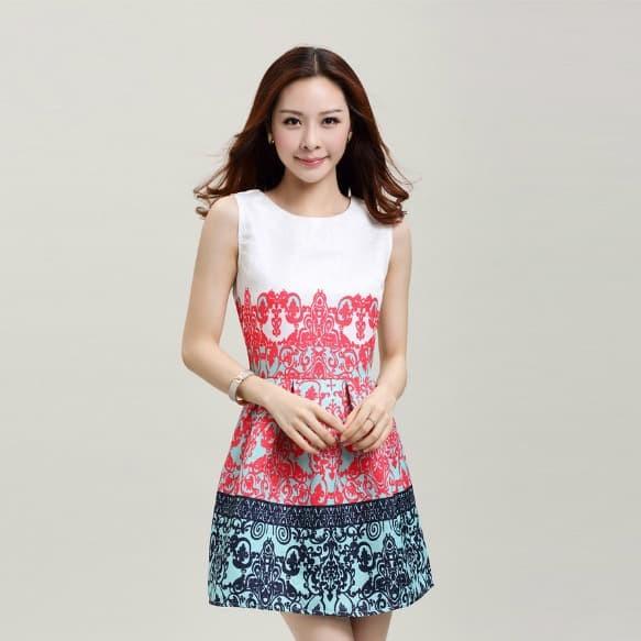 harga Cotton korea dress (redblue size sml) -61342 Tokopedia.com