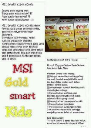 harga Gold smart kids honey msi - eceran Tokopedia.com
