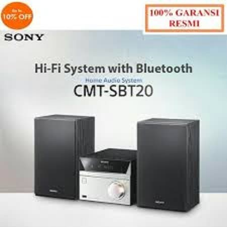 harga Sony compo cmt sbt20 hifi system usb bluetooth nfc fm radio Tokopedia.com