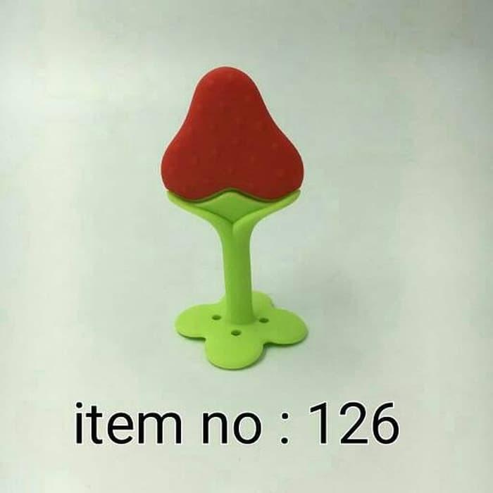 IQ Baby Teether Grape Strawberry Gigitan Anggur Gigitan Bayi Strober