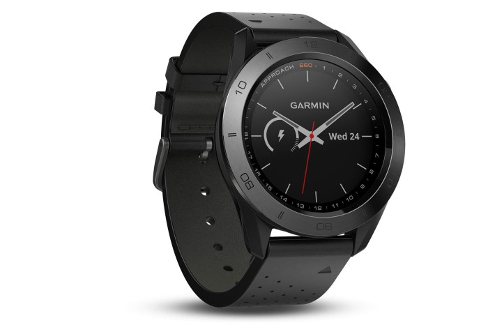 harga Garmin approach s60 - premium watch (with black leather band) Tokopedia.com
