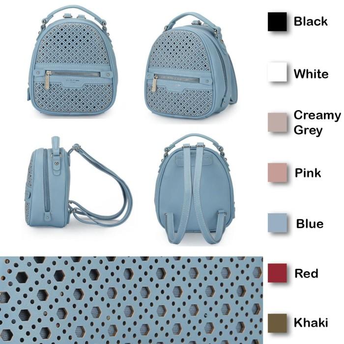 1b0d229cbe0 Davidjones Cm3775 Tas Punggung Backpack Ransel Mini Kulit Impor Wanita -  Hitam