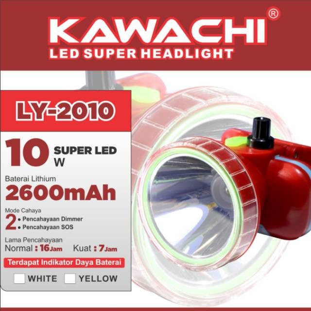 harga Kawachi senter kepala 10w super led ly-2010 Tokopedia.com