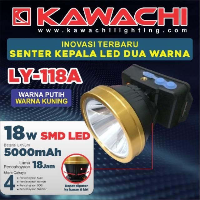 harga Kawachi senter kepala 18w smd led dua warna ly-118a Tokopedia.com
