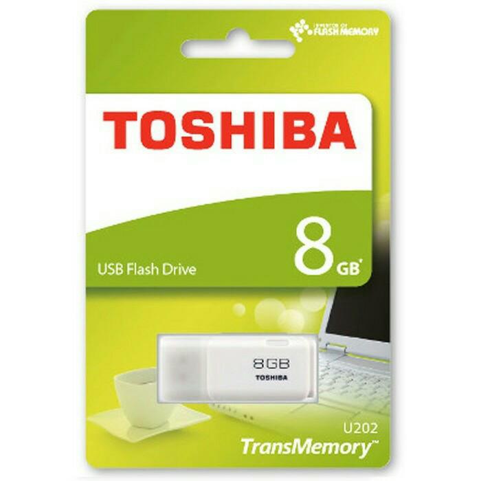 Toshiba Hayabusa USB flash Drive - UHYBS - 8GB -THN- U202W0080 - Putih - Putih