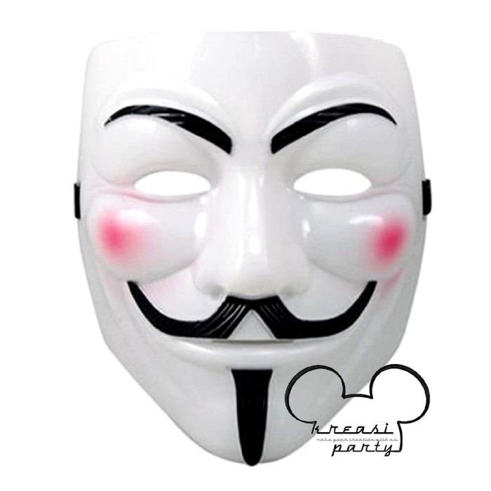 harga Topeng v for vendetta putih / mask anonymous vendetta guy fawkes Tokopedia.com