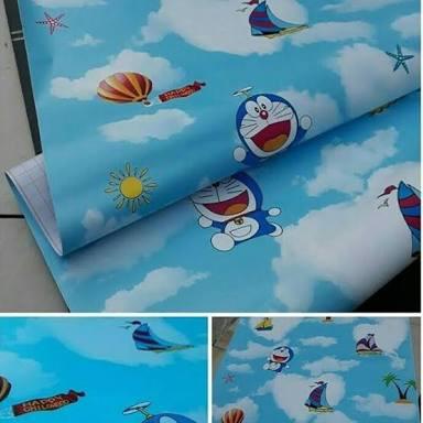 Jual Wallpaper Stiker Dinding Doraemon Uk 10mx45cm Murah Meriah