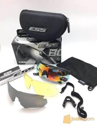 harga Kacamata Pria Ess Sunglasses Tactical Military 3 Lensa Crossbow - Putih - Nita Blanja.com