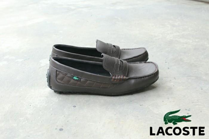 Jual Sepatu Slip-On Lacoste Pria best seller elegan - Hitam ea959cae5e