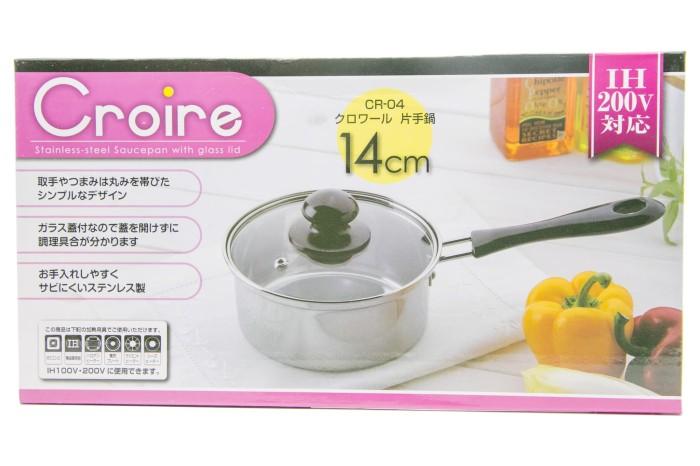 harga Croire japan panci/saucepan stainless jepang gagang 1 14 cm c14g1 Tokopedia.com