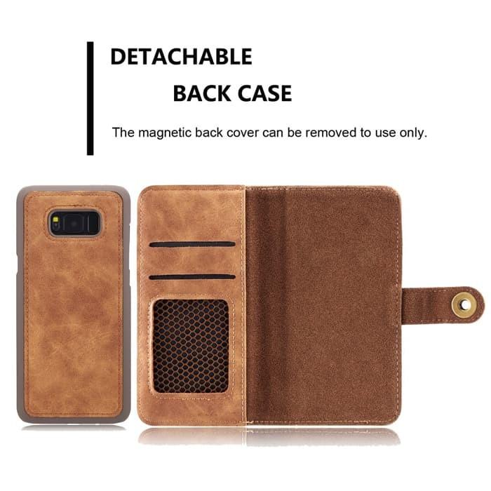 harga Wallet removable case samsung note 8 detachable leather flipcase cover Tokopedia.com
