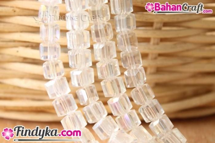 harga Bahan craft / kerajinan : kristal kotak 6mm biasa putih Tokopedia.com