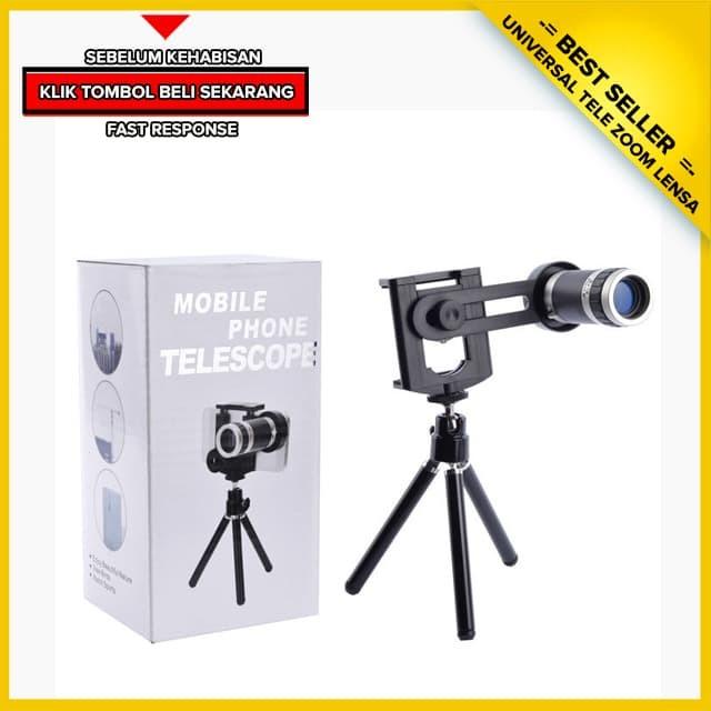 harga Lensa clip tele - telescope zoom - lensa jepit universal untuk hp Tokopedia.com