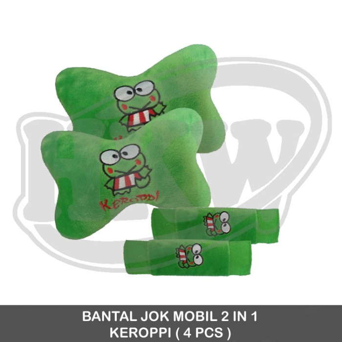 Bantal 2 in 1 keroppi mobil all new jazz 2011 - 2013