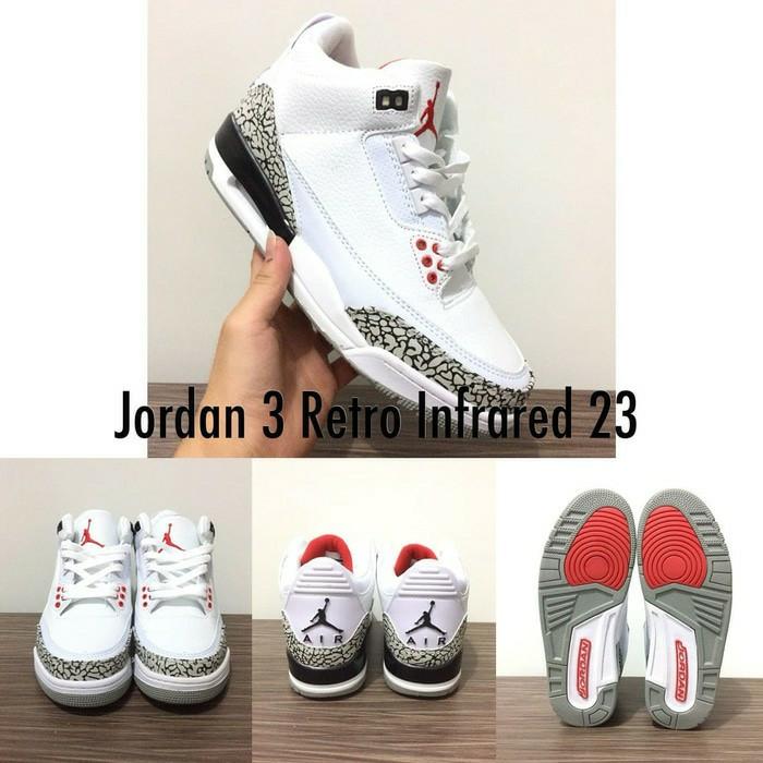 Jual sepatu basket air jordan 3 infrared - Ganda Sport  647e261db2