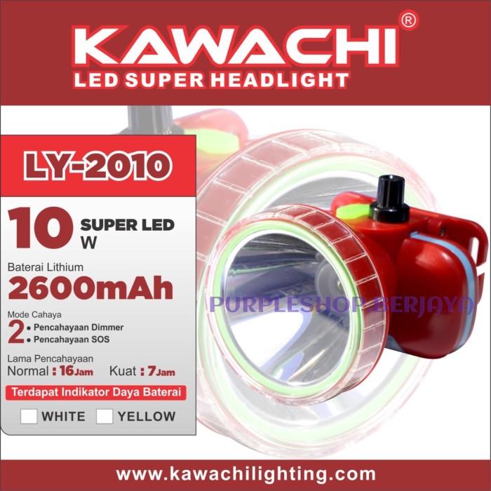 harga Kawachi senter kepala 10watt dimmer ly 2010 baterai litium Tokopedia.com