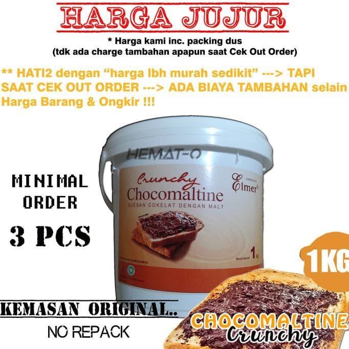 Elmer Chocomaltine Crunchy 1 Kg (Kemasan ORIGINAL)