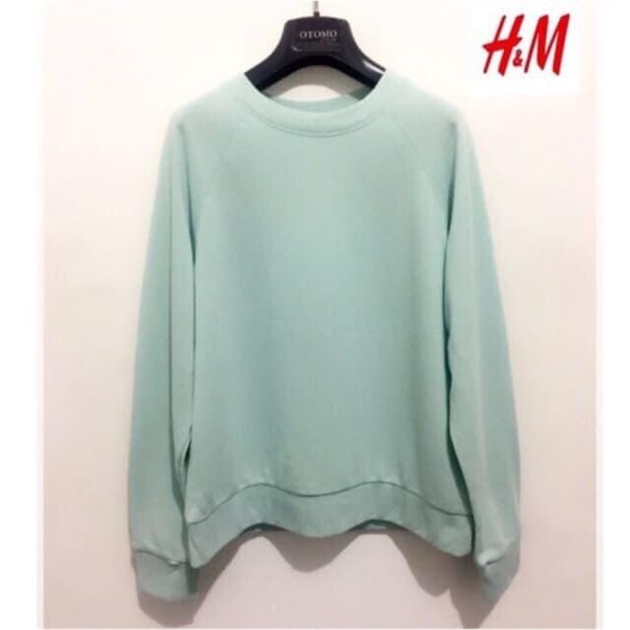 TERBARU MURAH Sweater HnM H&M Tosca Basic Sweatshirt Original Wanita