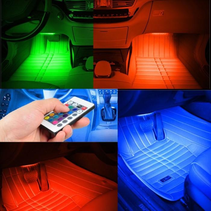 harga Lampu kolong mobil - lampu bawah dashboard mobil multi color remote Tokopedia.com