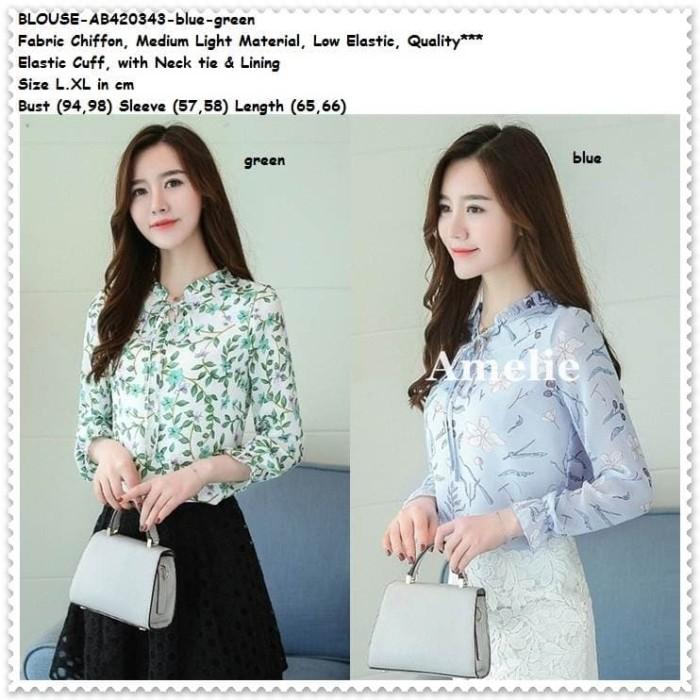 Foto Produk Baju Atasan Kerja Pesta Kemeja Wanita Blouse Korea Import Tunik Putih dari Amelie Butik Wholesale