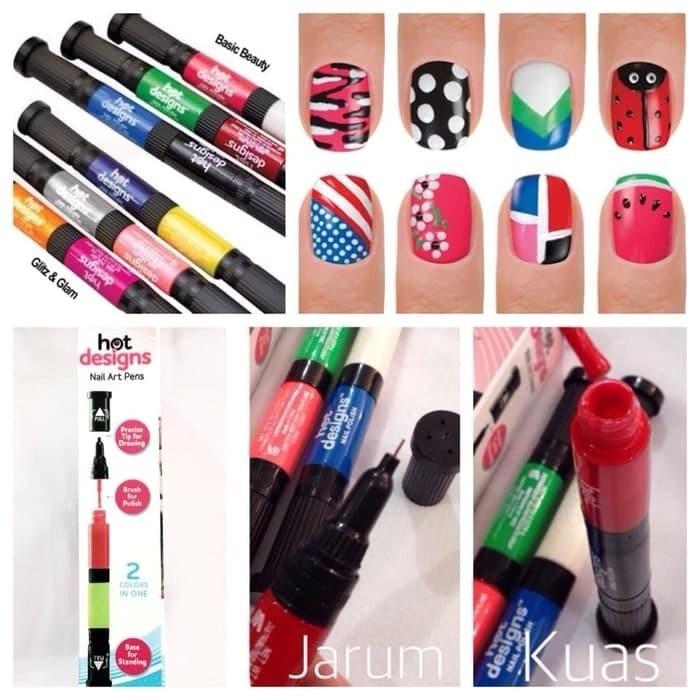 Jual Kutek Hot Design 6 Color Starter Kit Hot Design Nail Art Basic