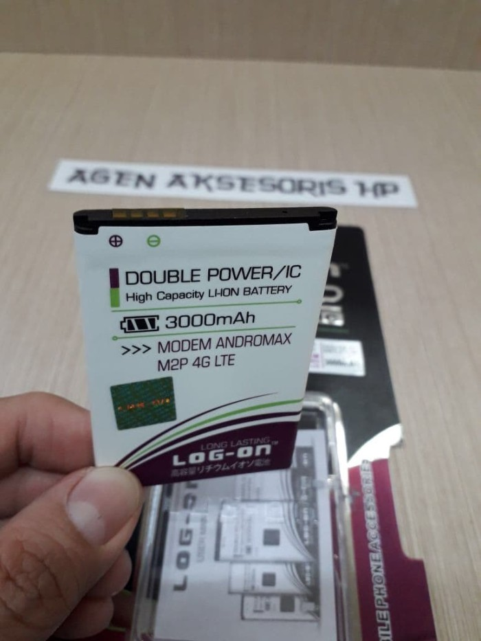 harga Batre modem andromax m2p mifi 4g lte baterai log-on double power / ic Tokopedia.com