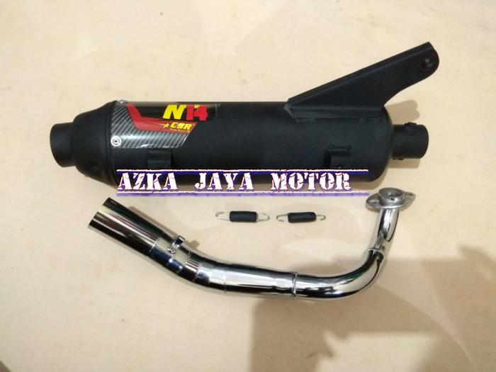 Knalpot Racing Bobokan N14 CSR Honda Beat Fi model Tsukigi leher Chrom