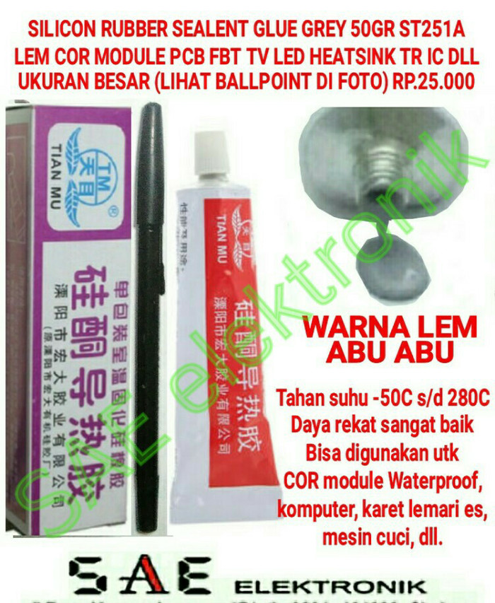 harga St251a lem cor module silicon rubber sealent paste insulation glue Tokopedia.com