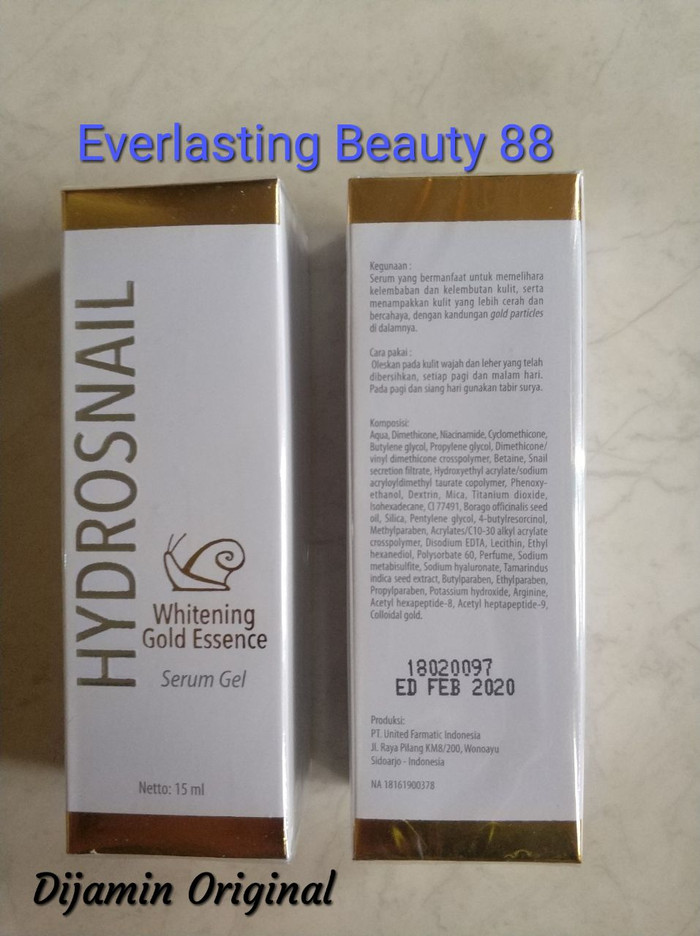 Prima derma hydrosnail whitening gold essence serum gel primaderma