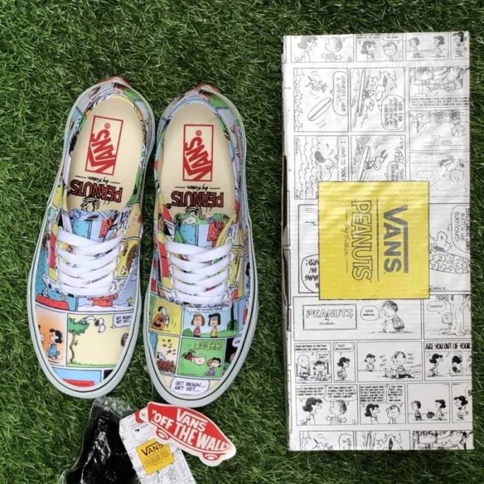 Jual Sepatu vans authentic peanuts comic sneakers wanita motif ... f659bf6e2b