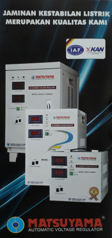 harga Matsuyama stabilizer 75kva-kd 130v 1p / stavol / stabiliser / 7500va Tokopedia.com