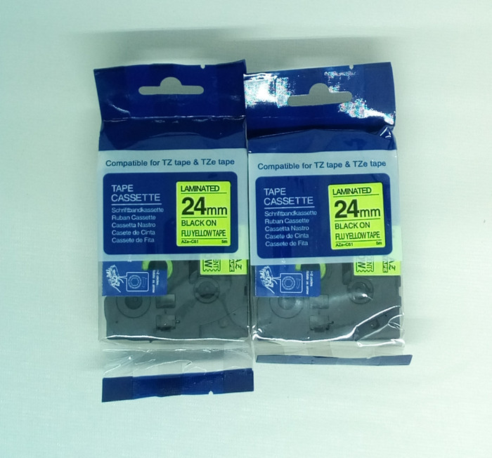 harga Aimo label tape fluorescence 24mm aze/ tze c51 khusus brother printer Tokopedia.com